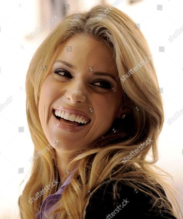 Stock Picture of Miss California Carrie Prejean Smiles During a Press Conference where Us Entrepreneur Donald Trump Who Owns the Miss Usa Pageant Announced That Prejean Can Retain Her Title As Miss California in New York New York Usa On 12 May 2009 Prejean Failed to Reveal That She Had Posed in Her Underwear As a Teenager Before Last Month's Miss Usa Pageant