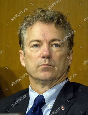 Stock Picture of United States Senator Rand Paul (Republican of Kentucky), a member of the US Senate Committee on Foreign Relations, at the hearing considering the nomination of Rex Wayne Tillerson, former chairman and chief executive officer of ExxonMobil to be Secretary of State of the US