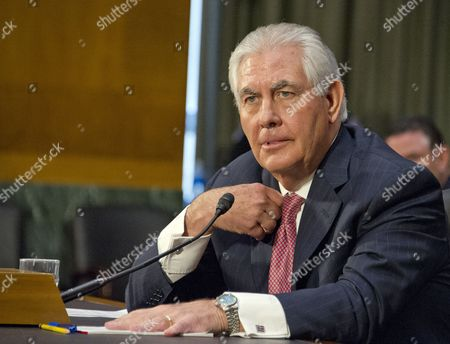 Rex Wayne Tillerson, former chairman and chief executive officer of ExxonMobil testifies before the United States Senate Committee on Foreign Relations considering his nomination of to be Secretary of State of the US
