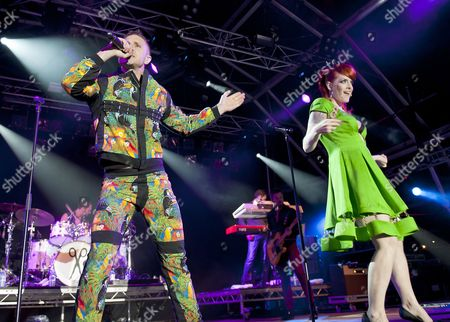 Editorial photo of The Scissor Sisters in concert at The Wickerman Festival, Scotland, UK - 20 Jul 2012