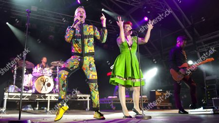 Stock Photo of Scissor Sisters - Jake Shears, Ana Matronic, Del Marquis, Randy Real