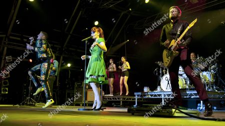 Editorial image of The Scissor Sisters in concert at The Wickerman Festival, Scotland, UK - 20 Jul 2012