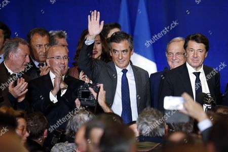Stock Photo of Francois Fillon, Rudy Salles and Eric Ciotti