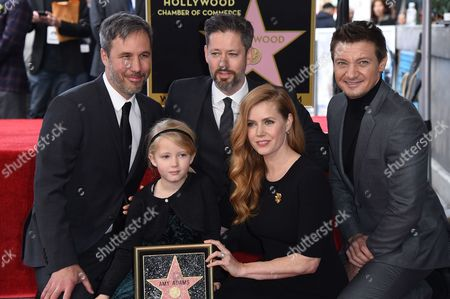 Denis Villeneuve, Aviana Le Gallo, Darren Le Gallo, Amy Adams and Jeremy Renner