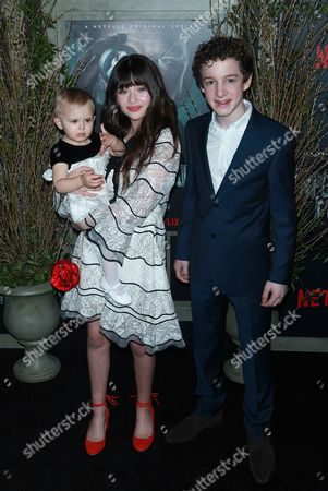 Presley Smith, Malina Weissman and Louis Hynes