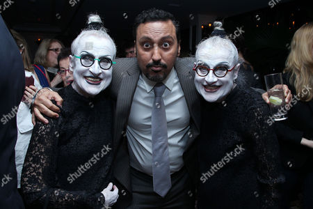 Joyce Robbins, Aasif Mandvi and Jackie Robbins