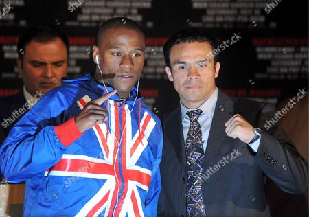 Editorial image of Britain Floyd Mayweather and Juan Marquez - May 2009