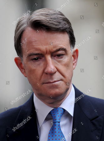 Business Secretary Lord Mandelson Wears a Concerned Expression As He Talks to the Press at Downing Street in London 05 June 2009 Defence Secretary John Hutton Quit the Government 05 June Although He Says He Will Remain Loyal to Gordon Brown It Comes After James Purnell Quit As Work and Pensions Secretary with a Call For the Pm to 'Stand Aside' to Prevent Defeat at the Next Election Mr Brown is Reshuffling His Top Team As He Fights For His Political Future