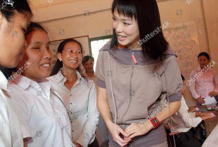 Editorial photo of Cambodia Cinema Singapore Fann Wong - Nov 2006