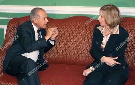 Israeli Foreign Minister Tzipi Livni (r) Meets with Her Egyptian and Jordanian Counterparts Ahmed Abul Gheit (l) and Abdelilah Al-khatib (not Shown) at the Foreign Ministry in Cairo Egypt 10 May 2007 Saudi Arabia Has Relaunched Its Arab Peace Initiative with the Arab Quartet's Egypt and Jordan Carrying out Contacts with Israel