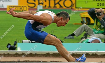 Tommi Evila of Finland Competes in the Men's Long Jump Final at the 10th Iaaf World Championships in Athletics Helsinki Finland Saturday 13 August 2005