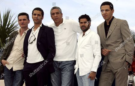 French Actors (l-r) Bernard Blancan Sami Bouajila Samy Naceri Jamel Debbouze and Roschdy Zem Pose During a Photo Call For Their Film 'Indigenes' by French Director Rachid Bouchareb Running in Competition at the 59th Cannes Film Festival Thursday 25 May 2006 in Cannes