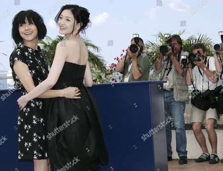 Chinese Actress Karena Lam (l) and Chinese Actress Barbie Hsu Pose During a Photo Call For Their Film 'Guisi' by Chinese Director Chao-pin Su Running out of Competition at the 59th Cannes Film Festival Wednesday 24 May 2006 in Cannes