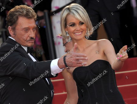 French Rockstar Johnny Hallyday and His Wife Laetitia Arrive For the Gala Screening of the Film 'Vengeance' by Johnny to Running in Competition During the 62nd Edition of the Cannes Film Festival in Cannes France 17 May 2009