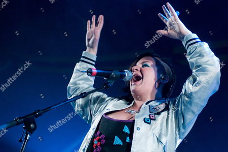 Stock Photo of Romanian-german R&b Singer Miss Platnum Performs at the Solidays Music Festival On the Outskirts of Paris France 27 June 2009 the Annual Solidays Festival Which is Aimed at Raising Funds For the Fight Against Aids Celebrates Its11th Edition This Year