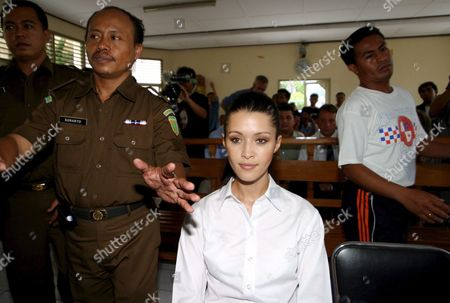 Australian Michelle Leslie Sits in a Courtroom During Her Trial at Denpasar District Court in Bali Indonesia On Friday 18 November 2005 Indonesian Judges Sentenced Leslie to Three Month in Jail Leslie a Model Was Arrested in Bali After Police Said They Found the Party Drug Ecstasy in Her Bag