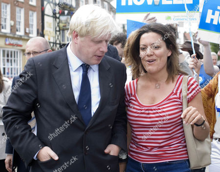 Boris Johnson with writer and journalist Anna Pasternak