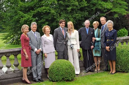 Count Christian and Countess Colienne of Limburg Stirum, Archduchess Yolande of Austria, Count Rodolphe of Limburg Stirum, Archduchess Marie-Christine of Austria, Grand Duke Jean of Luxembourg, Archduchess Marie-Astrid, Archduke Christian of Austria, Princess of Luxembourg