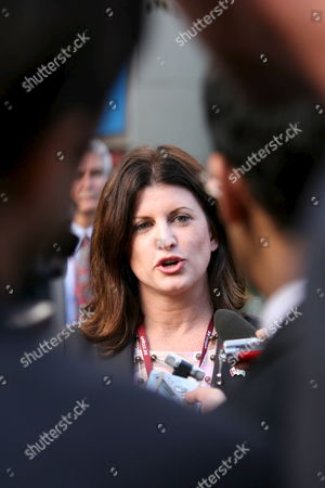 Stock Image of Canada's Enviornment Minister Rona Ambrose Talks During a Press Conference at the United Nations Climate Change Conference in Nairobi Kenya On Tuesday 14 November 2006 Ambrose Was Welcomed to the Global Summit by a Large Group of Reporters Eager For an Explaination to why Ottawa Has Effectively Abandoned the Kyoto Protocol a Day After Canada Received the 'Fossil' of the Day Award