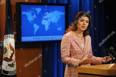 Us Special Representative to Muslim Communities Farah Pandith Holds a News Briefing at the Us State Department in Washington Dc Usa On 01 July 2009 in Her First Public Appearance in the Newly Created Position Farah Pandith Outlined the Intention to Work with Us Embassies to Improve Relations with Muslim Communities Around the World