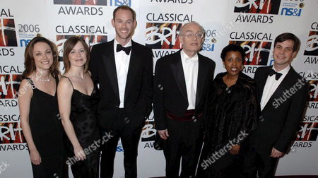 John Rutter (c) and the Cambridge Singers Pose For Photographers After Performing at the Classical Brit Awards 2006 Held at Royal Albert Hall London Thursday May 4th 2006 the Annual Classical Music Awards is Presented in Categories Including Newcomer Critic's Choice and International Male and Female
