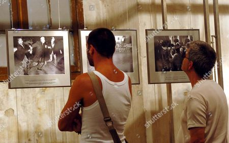 A 50 Photos Exhibit Based On the Book Negro Y Blanco is Being Shown at the Space Paul Fusco in the Couvent Des Minimes Perpignan France Monday 4 September 2006 As Part of Visa Pour L'image 18th Edition the Exhibit Includes Photos Taken by 65 Argentine Photojournalists From 1969 to 1985 a Period That Includes the Bloodiest Dictatorship Argentina Suffered a Slideshow with All the Book's Pictures Will Be Shown On Visa's Closing Night 9 September