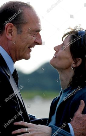 President of France Jacques Chirac (l) Welcomes French Journalist Florence Aubenas at Paris' Military Airport Villacoublay Sunday 12 June 2005 After Her Return From Iraq where She Had Been Held Hostage For Five Months Florence Aubenas and Her Iraqi Guide Hussein Hanoun Al-saddi Were Freed Yesterday in Iraq and Flown to Cyprus Today
