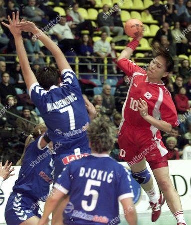Editorial image of Handball -  Korea Vs Serbia and Montenegro 1 - Dec 2003