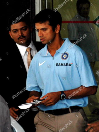 Stock Picture of Indian Cricket Captain Rahul Dravid Arrives to Attend a Meeting of the Board For Control of Cricket in India(bcci) in Bombay India On Friday April 06 2007 the Two-day Session Meeting with Former Indian Captains and the Present Captain Rahul Dravid Along with Coach Greg Chappell is On to Find Reasons For the World Cup Debacle of the Indian Cricket Team and Decide On a Future Roadmap Chappell 58 Had Earlier Resigned As India's Cricket Coach Following the Team's First-round Exit From the World Cup