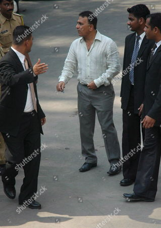 Stock Image of Former Indian Cricket Captain Sunil Gavaskar(3rd From Right) Arrives to Attend a Meeting of the Board For Control of Cricket in India(bcci) in Bombay India On Friday April 06 2007 the Two-day Session Meeting with Former Indian Captains and the Present Captain Rahul Dravid Along with Coach Greg Chappell is On to Find Reasons For the World Cup Debacle of the Indian Cricket Team and Decide On a Future Roadmap Chappell 58 Had Earlier Resigned As India's Cricket Coach Following the Team's First-round Exit From the World Cup