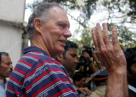 Former Indian Cricket Team Coach Greg Chappell Comes out of Bombay Hospital in Mumbai Maharashtra On Saturday 07 March 2007 He Was There For Routine Check Up On Saturday Morning Chappell 58 Had Earlier Resigned As India's Cricket Coach Following the Team's First-round Exit From the World Cup