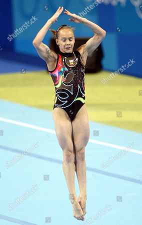 Elena Gomez of Spain in Vault Competition During the Women's Team Final in Gymnastics of the Athens 2004 Olympic Games in the Hellinikon Indoor Arena Tuesday 17 August 2004 Epa/dpa Louisa Gouliamaki