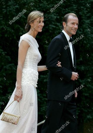 Prince Kyril of Bulgaria (l) and Princess Rosario (r) Arrive to Celebrate Grand Duke Henri and Grand Duchess Maria Teresa's Silver Wedding at the Berg Castle in Luxembourg Saturday 01 July 2006