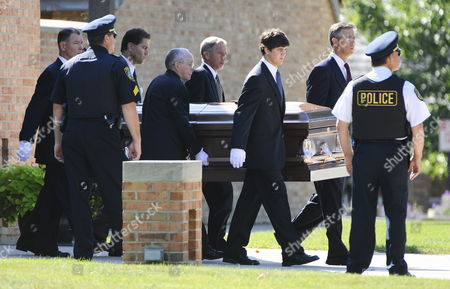 Pallbearers Carry the Casket of Indicted Former Illinois Governor Rod Blagojevich's Former Adviser and Fundraiser Christopher Kelly After Kelly's Funeral Services in Western Springs Illinois Usa 16 September 2009 Kelly Who Pled Guilty to Federal Charges not Related to Blagojevich and Was to Report to Prison 18 September Committed Suicide 12 September Reportedly Under Pressure From Authorities to Testify Against Blagojevich