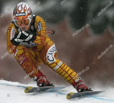Melaine Turgeon of Canada in Action at the Women's World Cup Downhill Here in Lake Louise Alberta Saturday 04 December 2004 Germany's Hilde Gerg Won with a Time of One Minute 36 01 Seconds Followed by Austria's Renate Goetschl in Second with a Time of One Minute 36 16 Seconds and France's Carole Montillet-carles in Third at One Minute 36 20 Seconds