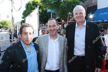 Producer's Lloyd Levin & Mike Richardson flank Jimmy Horowitz