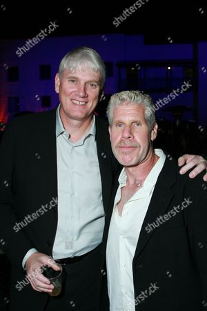 Producer Mike Richardson and Ron Perlman