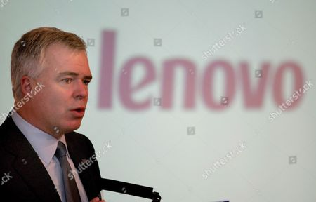 Lenovo Group Ltd Chief Executive Steve Ward Speaks to Reporters at an Earnings Press Conference in Hong Kong China Tuesday 01 November 2005 Shares in the World's Third Biggest Personal Computer Maker Had Their Biggest Decline in Almost a Year After Second Quarter Profit Rose Less Than Analysts Expected