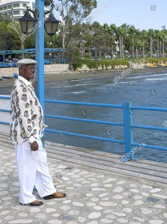 Legendary Cuban Singer Ibrahim Ferrer of the Buena Vista Social Club Poses For Photographers During a Press Conference in Limassol Cyprus 07 October 2004 Ferrer Will Be Giving a Single Performance in Cyprus Tomorrow at Eleftheria Stadium in Nicosia