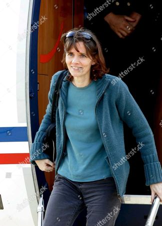 French Journalist Florence Aubenas Arrives at Paris' Military Airport Villacoublay Sunday 12 June 2005 After Her Return From Iraq where She Had Been Held Hostage For Five Months Florence Aubenas and Her Iraqi Guide Hussein Hanoun Al-saddi Were Freed Yesterday in Iraq and Flown to Cyprus Today