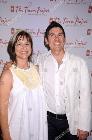 Trevor Project Co-Founder Peggy Rajski and Trevor Project Co-Founder James Lecesne