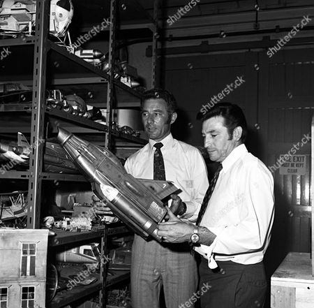 Stock Photo of 'UFO'   TV  Behind the Scenes Derek Meddings, Visual Effects Supervisor [L]