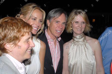 Christine Marinoni, Dee Ocleppo, Tommy Hilfiger and Cynthia Nixon