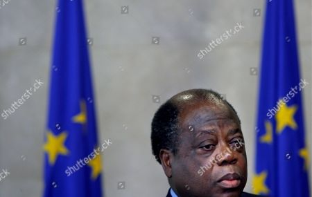 Ivorian Prime Minister Charles Konan Banny Attends a News Conference with Eu Development and Humanitary Aid Commissioner Belgium Louis Michel at Eu Headquarters in Brussels Wednesday 03 May 2006