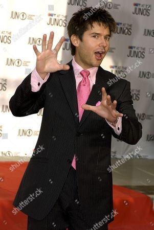 Singer Matt Dusk Arrives On the Red Carpet at the Juno Music Awards in Winnipeg Canada Sunday 03 April 2005
