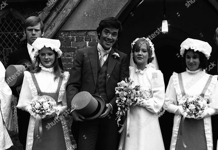 'Thriller' -  Season 2: Episode 1: 'Only A Scream Away' -  Hayley Mills (bride) with David Warbeck (groom) and Jeremy Bulloch