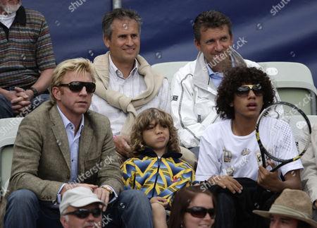 Boris Becker and sons Elias Balthazar Becker and Noah Gabriel