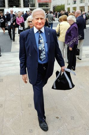Former Us Astronaut Buzz Aldrin Exits the Memorial Service For the Long Time Cbs News Anchor Walter Cronkite at Lincoln Center in New York Usa 09 September 2009