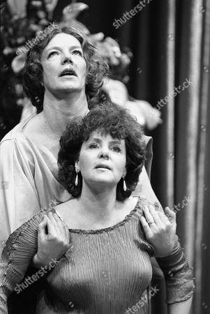 Pauline Collins (front) and Marjorie Yates December 1985