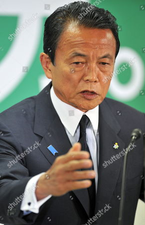 Japanese Prime Minister Taro Aso Speaks During His Last News Conference As President of the Ruling Liberal Democratic Party (ldp) at Party's Headquarters in Tokyo Japan 31 August 2009 Following the Historical Defeat in the Lower House Elections the Ruling Ldp Lost Power For Only the Second Time Since 1955 and Opposition Democratic Party of Japan (dpj) Led by Yukio Hatoyama Won a Landslide Victory in the General Election Japan Tokyo
